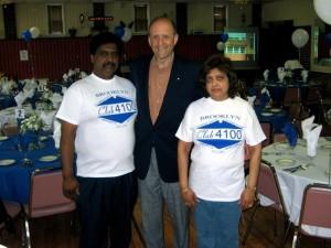 Raj and Meena Hankie with ex-Anne Arundel County Executive John Leopold.
