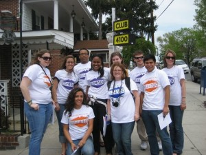 AMST students in front of Club 4100 in 2009. Photo by Nicole King.